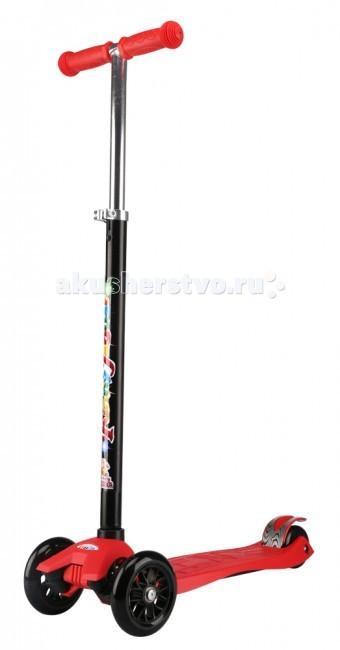 Трехколесный самокат Funny Scoo Fly MaxiFly MaxiСамокат Funny MS-950 Fly Maxi   Особенности: Вес: 2.6 кг Алюминиевый руль Нейлоновая платформа повышенной прочности: 54х14, 2 см Регулируемая высота руля 67-90 см Колёса: PU два передних 120х30 мм два задних 80/24, жесткость 78А Использование по возрасту: 3+  В комплекте: звонок<br>