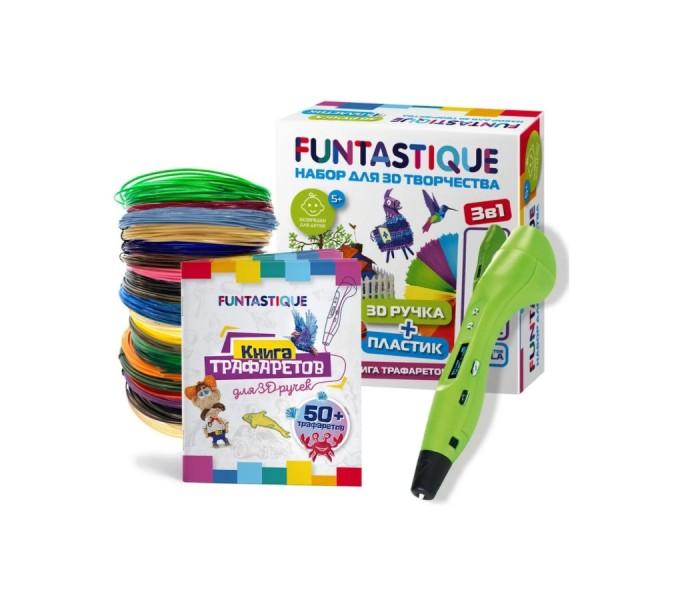Купить Наборы для творчества, Funtastique Набор для 3D творчества 3 в 1: ручка One, книжка с трафаретами, PLA-пластик 20 цветов