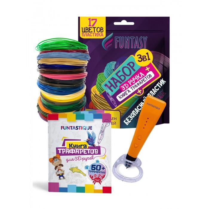 Купить Наборы для творчества, Funtasy Набор для 3D творчества 4 в 1: 3D-ручка Cleo, книжка с трафаретами, PLA-пластик 17 цветов