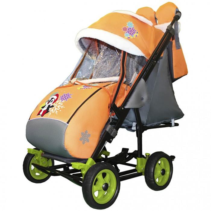 Купить Санки-коляски, Санки-коляска Galaxy Snow City-3-1 Пингвин на больших колёсах