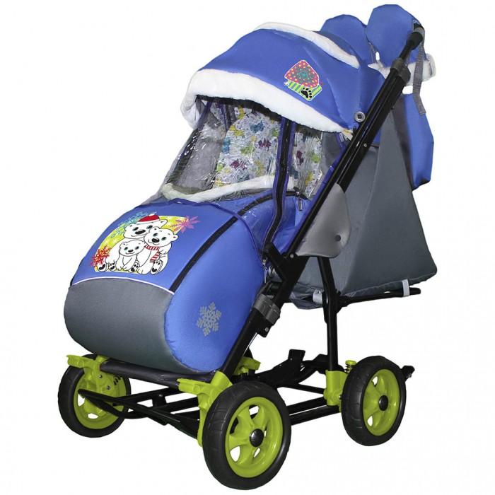 Санки-коляска Galaxy Snow City-3-1 Три медведя на больших колёсах