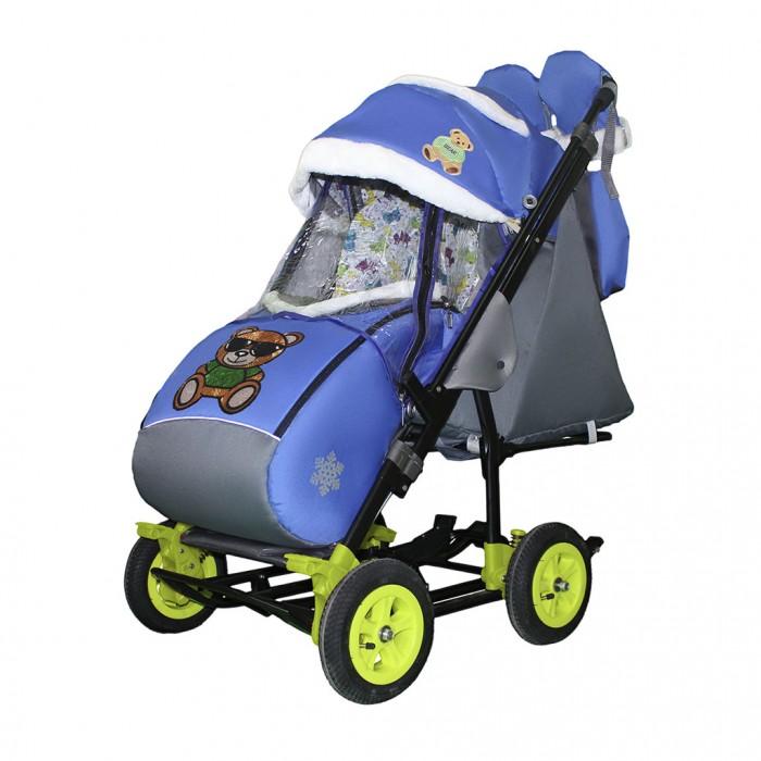 Купить Санки-коляски, Санки-коляска Galaxy Snow City-3-2 Мишка на больших надувных колёсах