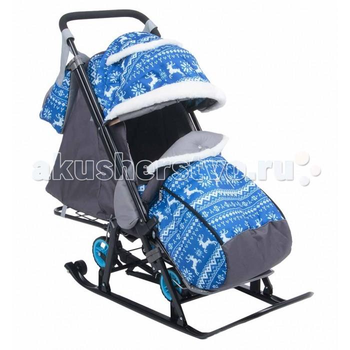 Санки-коляска Galaxy Олени GK-1-1 Plus
