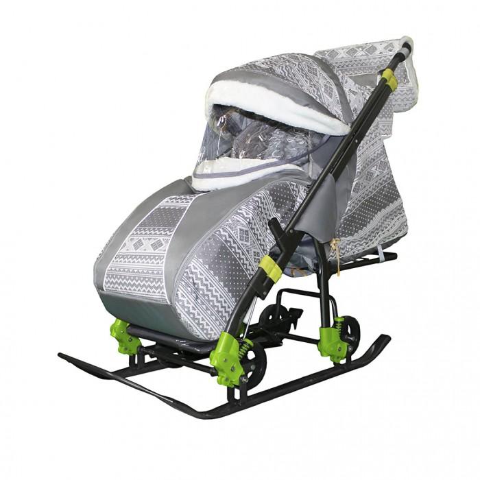 Санки-коляска Galaxy Snow Luxe Kids 5-1 Финляндия на больших колесах