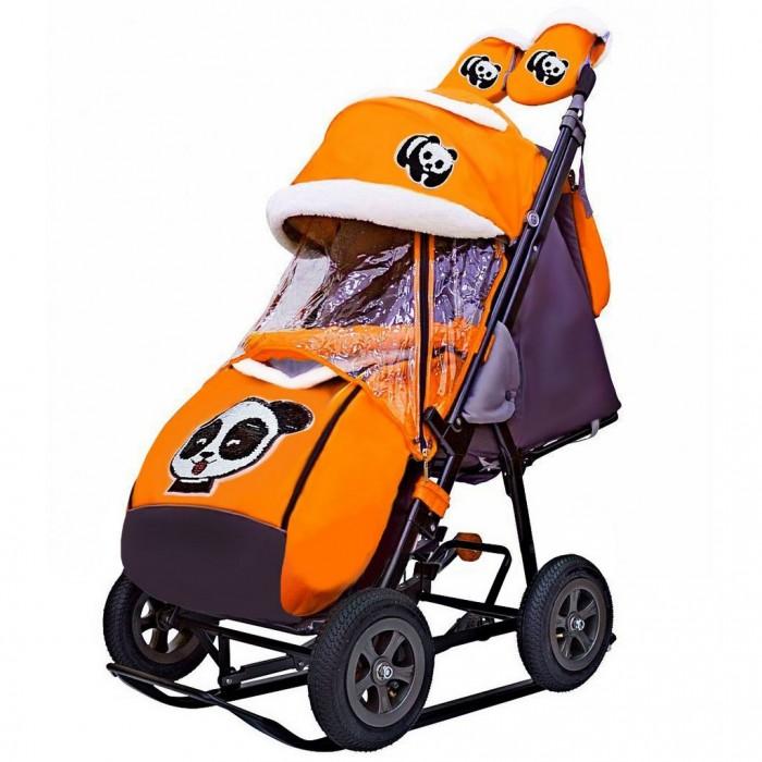 Купить Санки-коляски, Санки-коляска Galaxy Snow City-1-1 Панда надувные колёса