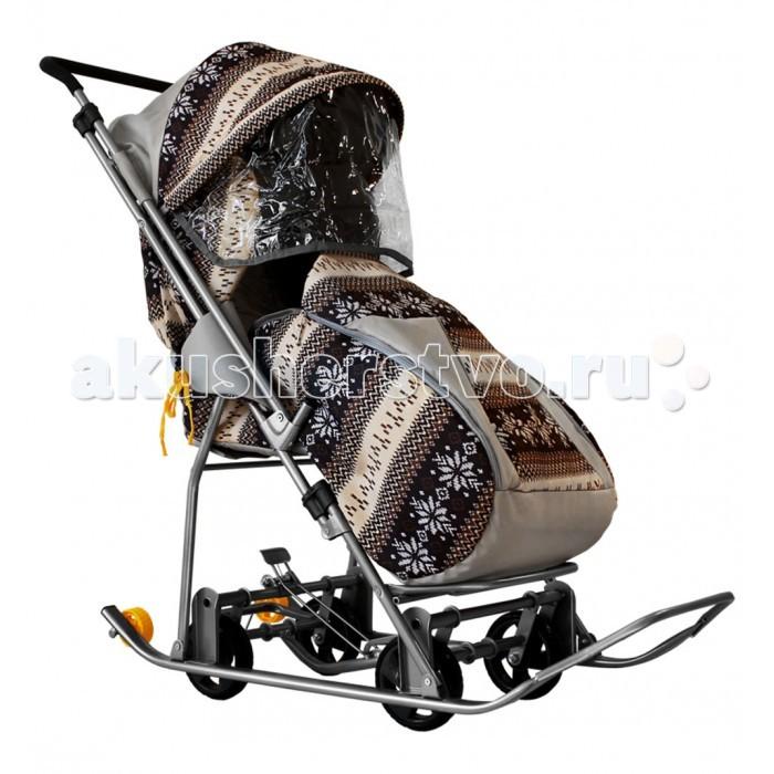 Санки-коляска Galaxy Снежинка Универсал