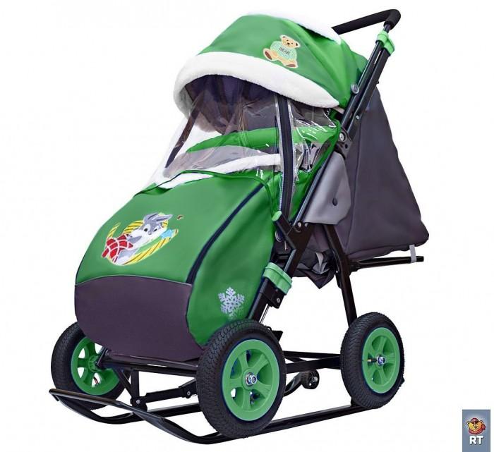 Купить Санки-коляски, Санки-коляска Galaxy Snow City-1-1 Серый Зайка колеса надувные