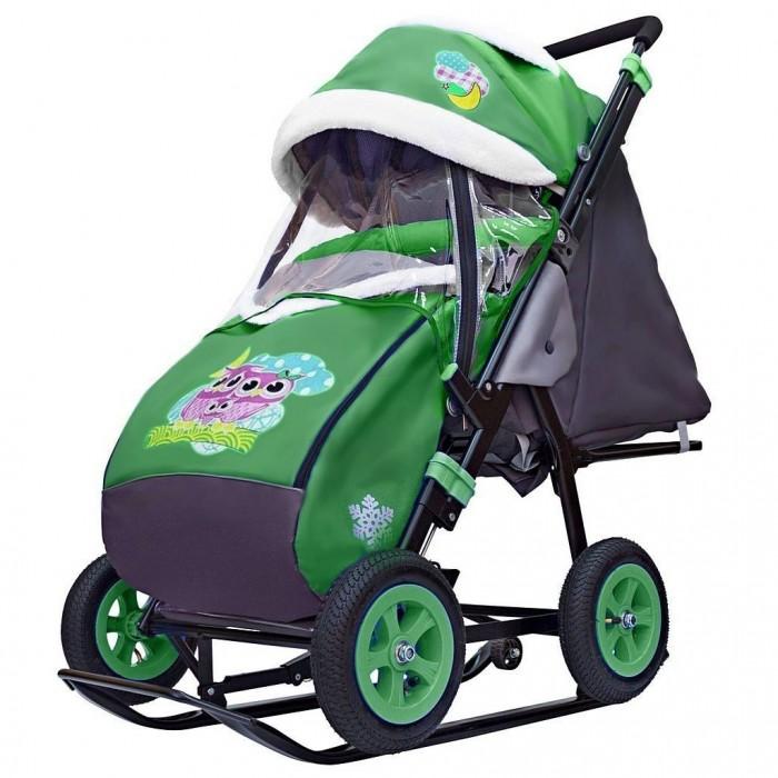 Купить Санки-коляски, Санки-коляска Galaxy Snow City-1-1 Совушки надувные колёса