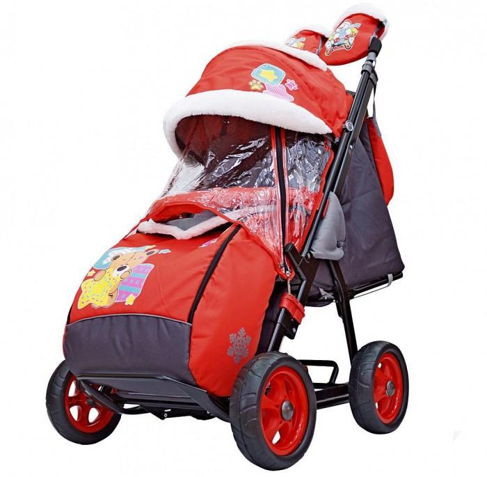 Санки-коляска Galaxy Snow City-1 Мишка со звездой колеса Ева