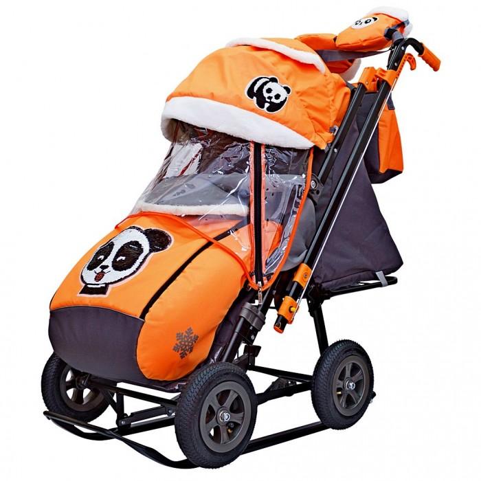 Санки-коляска Galaxy Snow City-2-1 Панда колеса надувные