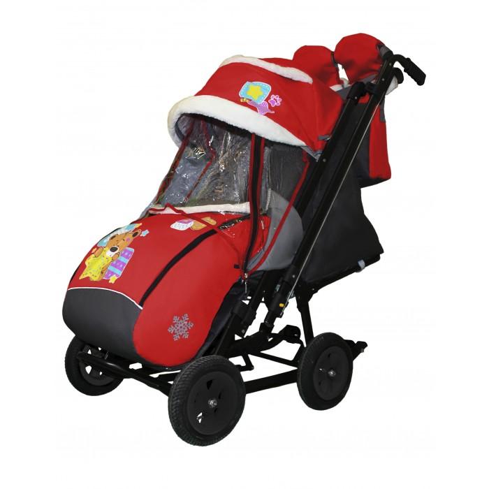 Купить Санки-коляски, Санки-коляска Galaxy Snow City-2 Мишка со звездой на больших колёсах Ева