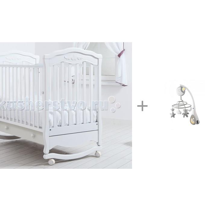 Купить Детские кроватки, Детская кроватка Гандылян Шарлотта качалка + мобиль Next2Dreams