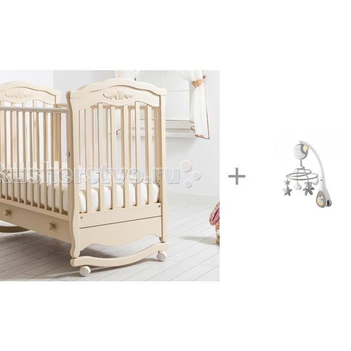 Детская кроватка Гандылян Шарлотта качалка + мобиль Next2Dreams