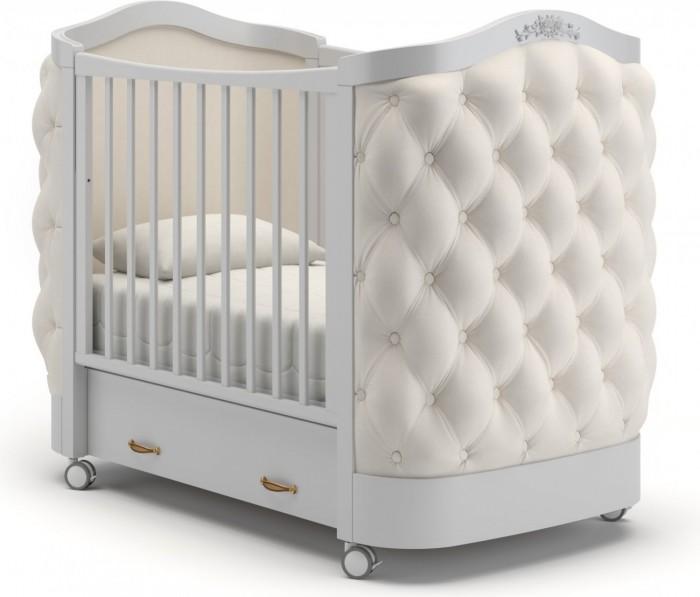 Детская кроватка Гандылян Тиффани декор пуговицы (колесо)