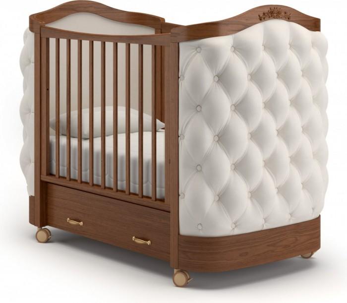 Детская кроватка Гандылян Тиффани декор пуговицы (колесо) фото