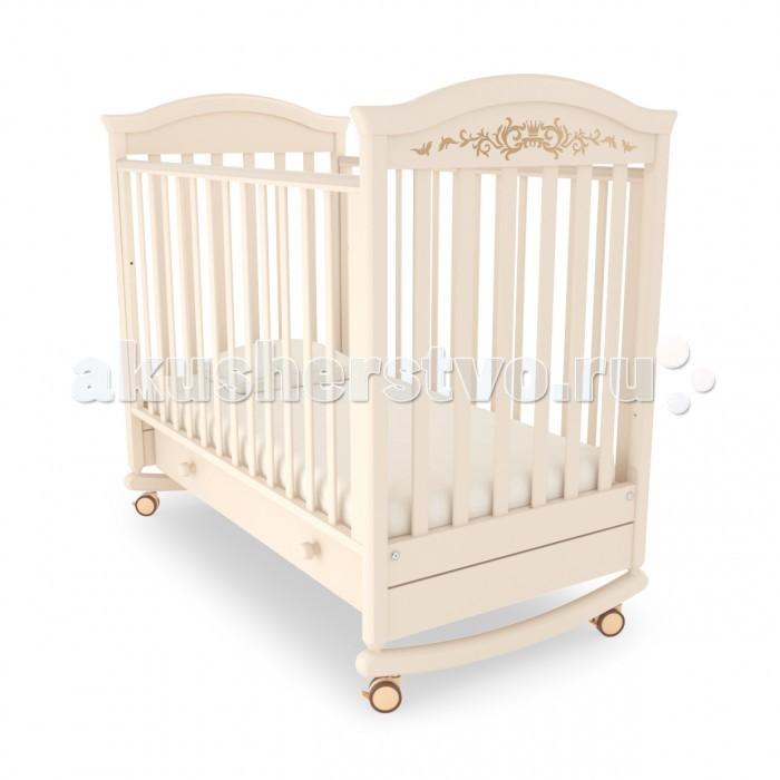 Детская кроватка Гандылян Даниэль люкс (качалка)Даниэль люкс (качалка)Гандылян Кроватка-качалка Даниэль люкс – это сочетание классического Европейского дизайна и современных методов обработки придают. Элегантный вид не только кроватке, но и комнате, где расположена кровать. Одной из идей эксклюзивного оформления мебели является декорирование ее кристаллами Swarovski. Особым образом ограненные кристаллы делают предметы интерьера изысканными. Многократное преломление лучей света заливает комнату волшебным сиянием.<br>