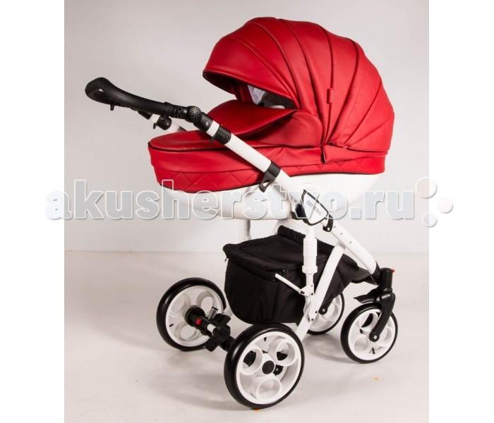 Коляска Genesis Lacio Eco 4 в 1 (гелиевые колеса)Lacio Eco 4 в 1 (гелиевые колеса)Коляска Genesis Lacio Eco 4 в 1 - первая коляска с двойной амортизацией, всесезонная модель для города и сельской местности!  Данная модель представлена в нескольких сочетаниях дна люльки и рамы. Дно люльки может быть белого или черного цвета, так же как и рама. Рамы коляски имеют гелиевые колеса.   Особенности Шасси:  ручка для переноса в сложенном виде.  фиксатор исключает случайное раскладывание шасси  глубокая корзина с крышкой  отделка ручки — высококачественная эко-кожа  настройка ручки управления по высоте  пара передних колес осуществляют вращение по кругу  гелиевые легкосъемные колеса на подшипниках  педаль тормоза для мгновенной блокировки задней оси  регулируемая амортизация на задних колесах  дополнительные амортизаторы на шасси  алюминиевая рама складывается книжкой  Особенности люльки:  сумка-переноска в комплекте.  легкосъемная внутренняя обивка из нежного хлопка  полозья для укачивания новорожденного (люлька качается как колыбель)  двухпозиционный капюшон с козырьком от солнца  беззвучное опускание капюшона  на лето обивка капюшона полностью снимается, оставляя москитную сетку  регулировка высоты подголовника  высокий борт на накидке крепится к капюшону, полностью закрывая ребенка от непогоды  центрированная кожаная ручка  матрасик.  Прогулочное сиденье:  4-х позиционная спинка полностью раскладывается  регулируемые по длине 5-титочечные ремни  бампер отстегивается с двух сторон  тканевая перемычка между ног  6-типозиционная подножка, обтянутая эко-кожей  мягкий вкладыш-матрасик  съемные тканевые детали можно стирать  капюшон с сетчатым окошком и козырьком  плотная накидка закрывает малыша полностью от ножек до головы  спрятанная под молнией ручка для переноски.  В комплекте:  сумка в тон обивки коляски  пеленальный матрасик  антимоскитная сетка  муфта для рук  дождевик  накидки-чехлы на каждый модуль  автокресло 0-13  сумка переноска<br>
