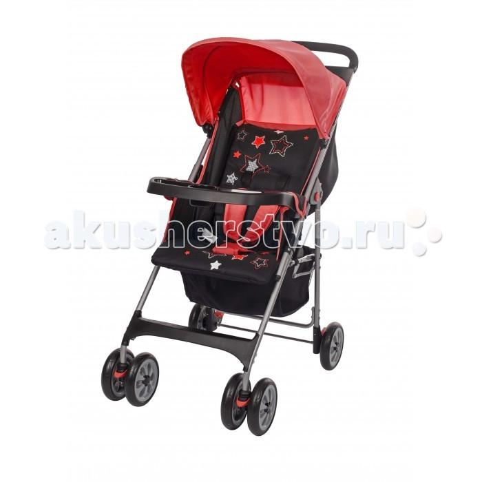 Прогулочная коляска Geoby Happy Dino C5100Happy Dino C5100Прогулочная коляска Geoby Happy Dino C5100 для детей от 6 месяцев до 3 лет. Отличительная особенность этой модели – в наличии полочки на ручке, куда мама может положить ключи и другие мелочи, и съемном столике-бампере, который так удобен для маленьких пассажиров.  Небольшие ненадувные колеса не предназначены для штурма снежных заносом, но летом в городе показывают хорошую маневренность, устойчивость и проходимость за счет того, что передние колеса – сдвоенные, поворотные, с возможностью зафиксировать их в прямом положении для прохождения сложных участков дороги.  Наклон спинки прогулочного блока регулируется плавно, откидываясь в удобное для сна и отдыха положение. Регулируемой подножки нет, но есть пластиковая подставка для ножек. Пятиточечные ремни безопасности с мягкими плечевыми накладками – обязательная деталь конструкции современных прогулочных колясок, из соображений безопасности рекомендуется пристегивать малыша каждый раз, даже при наличии бампера-поручня.  Небольшой капюшон вполне подойдет для лета. А багажная корзина-сетка у модели C5100 – глубокая и вместительная, так что даже гуляя с маленькой мобильной колясочкой, можно сложить в нее игрушки для детской площадки или пакет из супермаркета.  Особенности: Плавная регулировка наклона спинки Поворотные передние колеса с фиксаторами Съемный столик-поручень Столик для мамы на ручке Телескопическая система складывания 5-ти точечная система ремней безопасности с мягкими плечевыми накладками Багажная корзина.  Размеры и вес: Вес коляски – 6.6 кг  Высота до ручки - 99 см. Размер сидения - 31 х 23 см. Размер спинки - 31 х 39 см.<br>