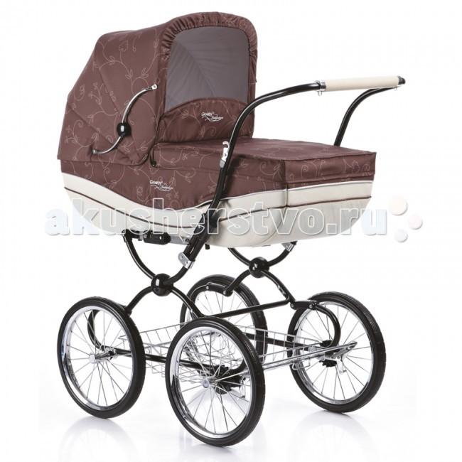 Коляска Geoby С605 2 в 1С605 2 в 1Универсальная коляска Geoby C605 воплощает красоту и элегантность, оставаясь образцом ретро-гармонии. Ну а вашему малышу будет уютно и удобно в просторной люльке с регулируемым подголовником и тремя положениями спинки. Ретро-дизайн в этой коляске сочетается с современными решениями в технологиях. Например, больше литые колеса со спицами, хромированная рама, противогрязевая пропитка ткани, рессорная амортизация и множество других нюансов, которые делают коляску очень приятной в эксплуатации и удобной для малыша. Зимой во время снега и слякоти коляска уверенно катится абсолютно без шума. Коляска компактна, когда вы сложите ее, она займет немного места. К тому же она легко быстро складывается, поэтому это потребует от вас минимум времени и усилий.  Характеристика: Стильная стальная рама, выполненная в ретро-стиле Съемные колеса на подшипниках Амортизационная система Металлическая багажная корзина  Съемный прогулочный блок: 4 положения спинки Наклон спинки до положения «лежа» 2 положения подножки Съемный ограничительный поручень Установка в любом направлении движения 5-ти точечная система ремней безопасности  Съемный короб: Ремни для переноски Регулируемый подголовник Возможность использования в качестве колыбели  В комплекте: дождевик, москитная сетка, полог, европолог, сумка для мамы.  Размер в разложенном виде: 97 х 57 х 117 см. Ширина коляски: 57 см. Диаметр колес: 36 см.  Вес коляски с прогулочным блоком: 16 кг. Вес коляски с коробом: 17 кг.<br>