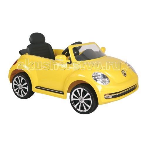 Электромобиль Geoby W486QW486QЭлектромобиль W486Q (Volkswagen Beetle Convertible) - маленькая и яркая машинка, которая для любого малыша станет идеальным подарком. Автомобиль оснащен звуковыми и световыми эффектами, которые вместе с реалистичностью дизайна делают его любимым транспортом трехлетнего ребенка. Множество деталей подчеркивает сходство с оригиналом, а устойчивость и прочность делают модель безопасной и комфортной малышу.  реалистичный внешний вид подходит для детей от 3-х лет прозрачное ветровое стекло функциональная панель приборов светодиодные фары движение вперед/назад руль со звуковым сигналом открывающие двери аккумулятор 6V<br>
