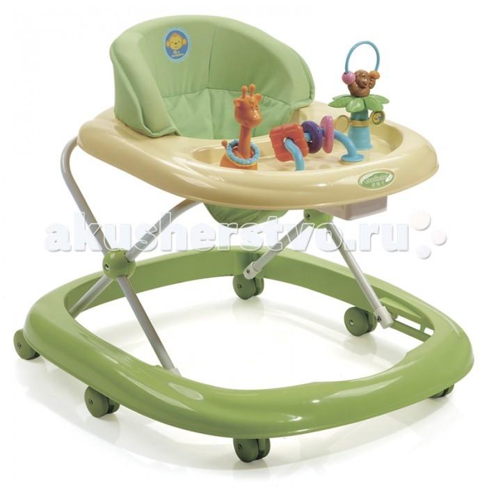 Ходунки Geoby XB109XB109Детские ходунки Geoby XB109 выполнены в интересном и необычном дизайне.   На игровой панели размещены веселые игрушки-животные, а также геометрические фигуры для знакомства малыша с элементарными математическими знаниями.  Особенности: - Для детей от 7 до 18 месяцев - Вес ребенка до 12 кг. - 3 положения по высоте - Мягкое съемное сиденье - Столик Колесики с фиксаторами по периметру - Вес - 4,5 кг; - Объем упаковки: 0,064 м3; - Размеры : Д 70, Ш 62, В 54 см.<br>