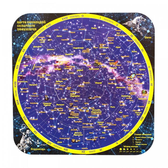 Атласы и карты Геомагнит Магнитный пазл Карта созвездий северного полушария раннее развитие геомагнит магнитный пазл европа 44 элемента