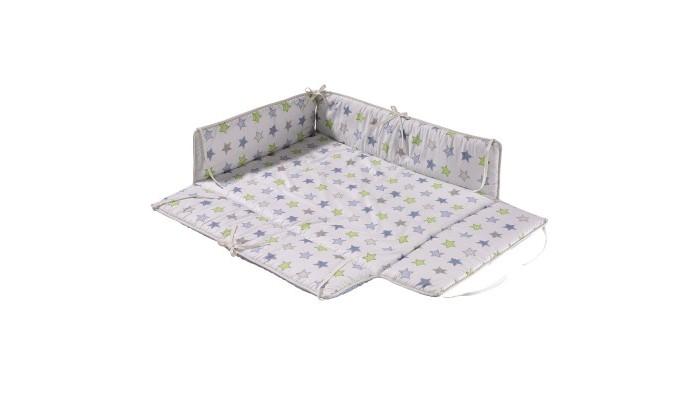 Geuther Бампер для манежа AmeliБампер для манежа AmeliБлагодаря данному дополнительному бамперу для манежа Ameli можно оформить спальное место, которое защищает ребенка от сквозняка и дает ему необычайное ощущение мягкости во время дневного сна.   Характеристики: крепится на завязках к углам манежа экологически чистый материал - 100% хлопок стирается при деликатном режиме<br>