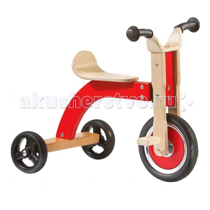 Велосипед трехколесный Geuther DreiradDreiradВелосипед Dreirad  Классический трехколесный велосипед с большим передним колесом прекрасно подойдет для Ваших маленьких спортсменов!  Первые самостоятельные поездки малыша должны быть безопасными и полны впечатлений!   Dreirad - идеальная подготовка к правильной езде на подростковом велосипеде! Велосипед от Geuther позволит ребенку развить концентрацию и равновесие! Для детей от 1 года до 4 лет Высота сиденья: 39 см Устойчивая конструкция Максимальная нагрузка: 25 кг Материалы: фанера (бук), резина. Цвет: натуральный/красный<br>