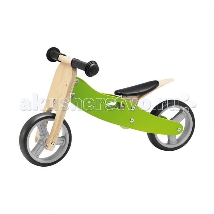 Беговел Geuther Minibike 2 в 1Minibike 2 в 1С помощью такого велосипеда 2 в 1 малыш развивает чувство баланса, чтобы когда-нибудь легко обойти вас на финишной прямой. Вначале на трех колесах, потом на двух и вот ребенок уже ездит на велосипеде абсолютно самостоятельно!  Изготовленный из твердой березовой фанеры, Minibike всего несколькими движениями можно превратить из трехколесного велосипеда в двухколесный, а высоту эргономичного сиденья с мягкой обивкой можно легко регулировать.  Надежные и прочные пластиковые ободы со сплошными резиновыми шинами можно быстро и просто вымыть, так что на полюбившемся «экипаже» можно ездить как в доме, так и на улице.   Особенности:   Сиденье с мягкой обивкой Высота сиденья регулируется в трех положениях в диапазоне 23-27 см Может быть преобразован из трехколесного в двухколесный<br>