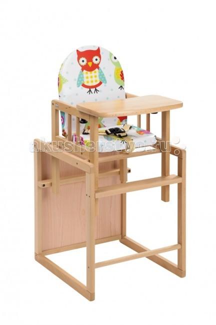 Стульчик для кормления Geuther Nico трансформерNico трансформерСтульчик для кормления Geuther Nico трансформер  Nico может использоваться в качестве полноценного высокого стульчика, а также отдельно или в комбинации со столом. Высокая спинка обеспечивает комфорт для малыша, а столик для игры дает возможность занять ребенка.  Особенности: выполнен из массива бука окрашен нетоксичными красками на водной основе стульчик для кормления можно использовать для детей с 6 месяцев и до 3-4 лет основа изготовлена из натурального дерева удобный стульчик-трансформер для кормления вашего малыша превращается в стул-стол-парту обладает отличной устойчивостью подходит для спинки ребенка, формируя правильную осанку стульчик очень мобильный столешница стульчика съемная, поэтому по мере взросления Вашего малыша, Вы можете снять поднос и пододвинуть стульчик к общему столу ограничитель между ножек не позволит ребенку выскользнуть мягкое комфортное сиденье клеенчатое покрытие позволит легко содержать стул в чистоте Размеры: в виде стола и стула (дxшxв): 57x44x92 см в виде высокго стула (дxшxв): 92х44х57 см<br>