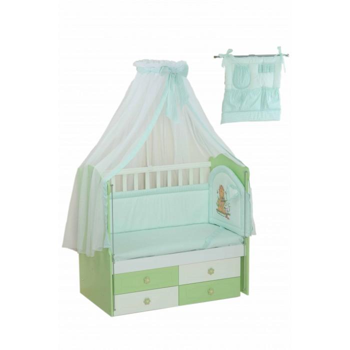 Купить со скидкой Комплект в кроватку Селена (Сдобина) для новорожденного 17 (8 предметов)