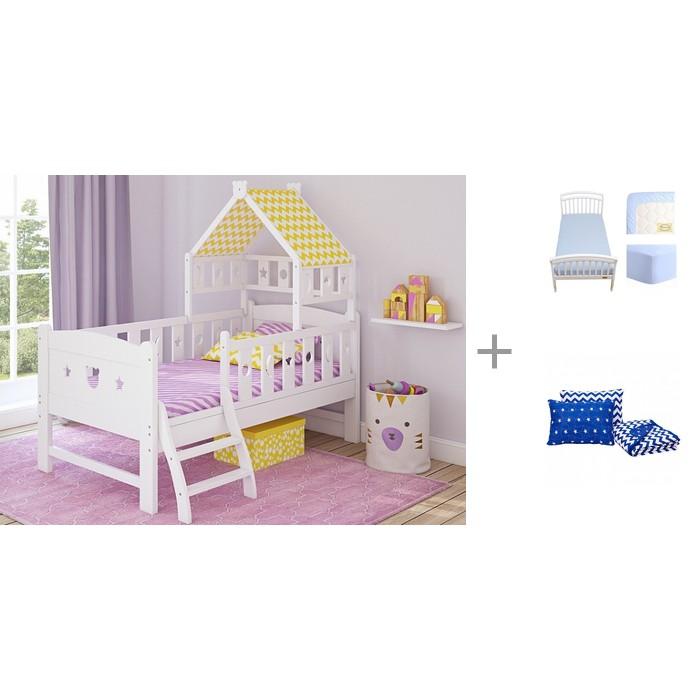Подростковая кровать Giovanni Dommy 160х80 см c простыней натяжной на резинке Solid 160х80 и покрывалом Z-Kids с подушками (3 предмета) 170x110 см фото