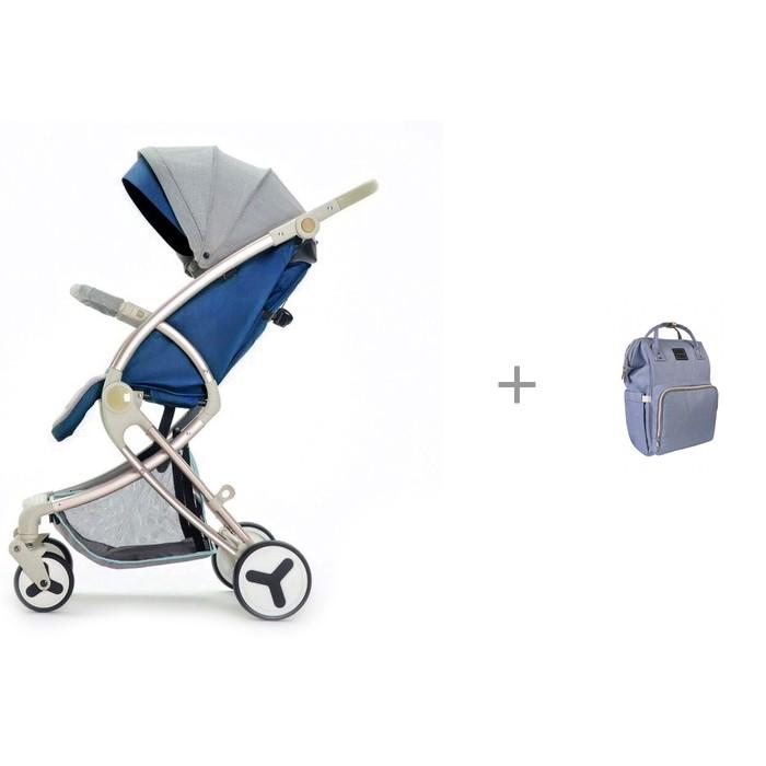 Купить Прогулочные коляски, Прогулочная коляска Giovanni Modo с рюкзаком для мамы Yrban MB-104 в голубой расцветке