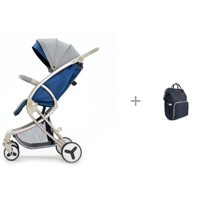 Купить Прогулочные коляски, Прогулочная коляска Giovanni Modo с рюкзаком для мамы Yrban MB-104 в синей расцветке