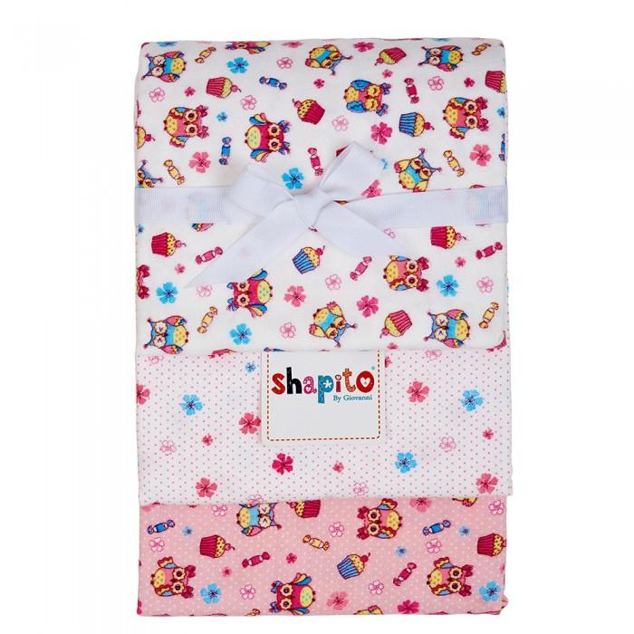 Пеленки Giovanni Shapito Комплект пеленок фланель 3 шт 120х90 пеленки pecorella комплект пеленок perfect 120 х 90 3 шт