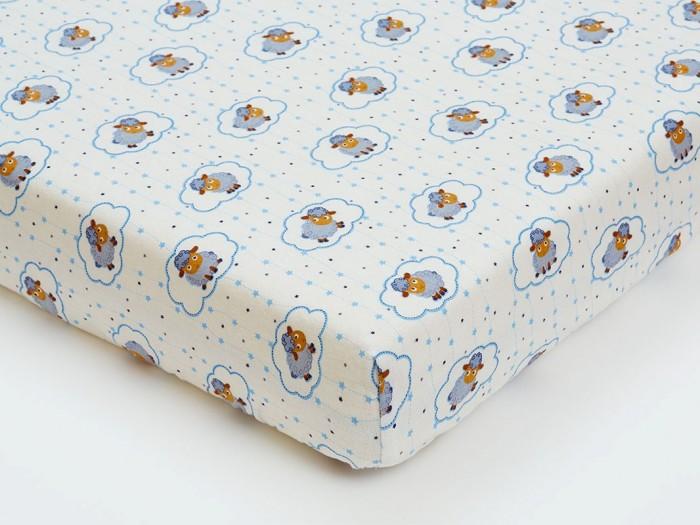 Простыни Giovanni Простыня на резинке фланель 120x60 Овечки простыня на резинке хлопковый край