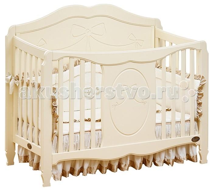 Детская кроватка Giovanni ValenciaValenciaДетская кроватка Giovanni Valencia Поистине королевская, нежная и романтичная модель, в которой ваша девочка будет ощущать себя настоящей принцессой. Фасады кроватки украшены резьбой, что придает этой модели утонченную красоту с элементами роскоши.  Особенности: Кроватка выполнена по принципу трансформации 3 в 1.  Высота основания матраса варьируется в 3-х уровнях.  При положении основания на самом верхнем уровне – вариант использования для новорожденных.  Затем, когда Ваш ребенок начал ходить, установка дополнительного защитного бортика позволит уберечь его от падений во время сна, и в то же время, он сможет самостоятельно залезть и слезть с кровати.  Когда Ваш ребенок подрос, кроватка может оставаться в игровой и использоваться как диванчик. Все это позволяет увеличить срок использования детской кроватки с рождения до 5-7 лет. 3 уровня основания для матраса  Трансформируется в диванчик  Материал: массив экологически чистой новозеландской сосны с элементами МДФ. Древесина отличается эластичностью, отсутствием сучков, глубиной и красотой структуры дерева.<br>