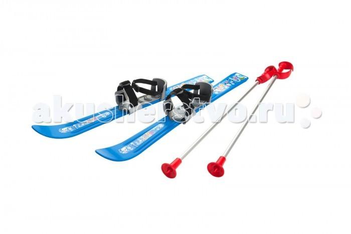 Ледовые коньки и лыжи Gismo Riders Детские лыжи с палками и креплениями Baby Ski 70 см цикл лыжи детские вираж спорт с палками цикл