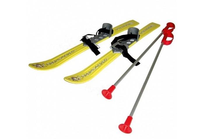 Ледовые коньки и лыжи Gismo Riders Детские с палками креплениями Baby Ski 90 см