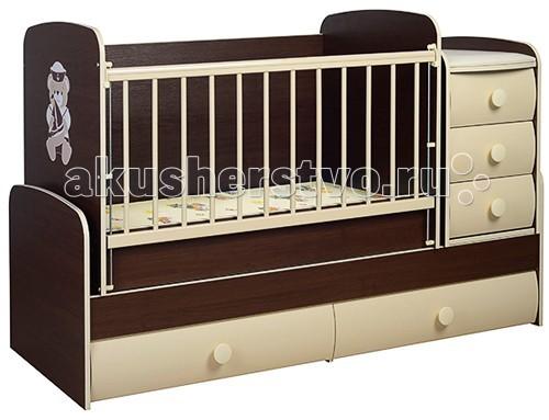 Кроватка-трансформер Glamvers Comfort VIP поперечный маятник