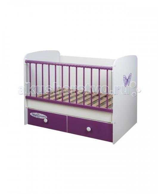 Детская кроватка Glamvers Magic цветная поперечный маятник