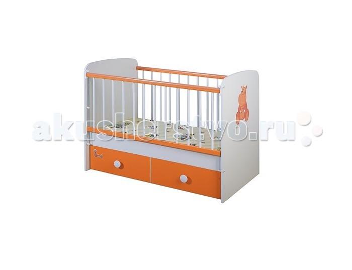Детская кроватка Glamvers Magic Plus цветная поперечный маятник