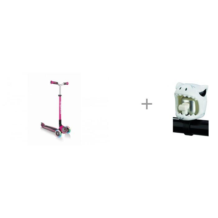 Купить Трехколесные самокаты, Трехколесный самокат Globber Master Lights и электронный сигнал Mini Buzzer