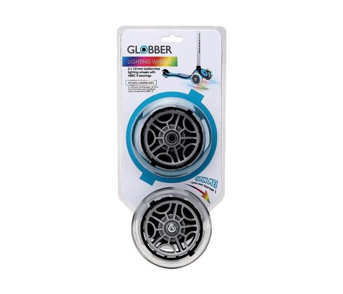 Аксессуары для велосипедов и самокатов Globber Комплект колес для самоката 125 мм Lightning Wheel Set For Primo/Evo/Elite/Flow 125
