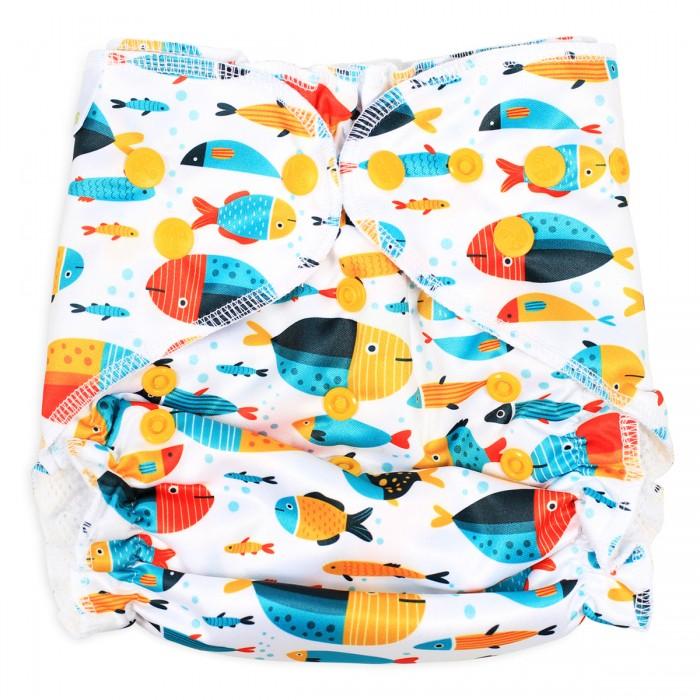 Многоразовые подгузники и трусики GlorYes Многоразовый подгузник для плавания Рыбки многоразовые подгузники и трусики gloryes многоразовый подгузник для плавания летчик