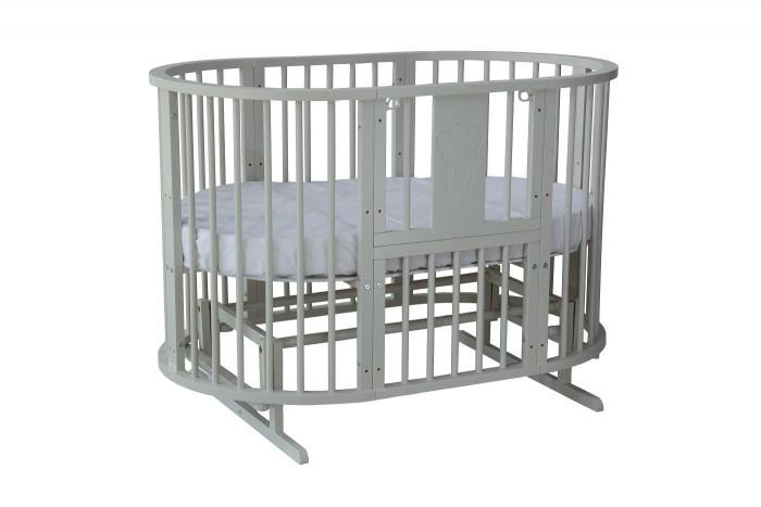 Кроватки-трансформеры Гном круглая Слоник 75 8 в 1 (универсальный маятник)