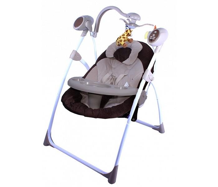 Электронные качели Gold baby Loving Hug GD102Loving Hug GD102Электронные качели Gold baby Loving Hug GD102  Стильные электрокачели для новорожденных. Очень мобильная модель предназначена специально для родителей, которые не сидят на месте.   Особенности: легко и компактно складываются очень удобное сиденье игрушки на крутящейся вертушке над головой ребенка 6 скоростей качания мягкая музыка с таймером матрасик на сиденье, который можно стирать  Питание от 3-х батареек D-LR20 (1.5V)  Сертификат РСТ / Европейский сертификат соответствия СЕ<br>