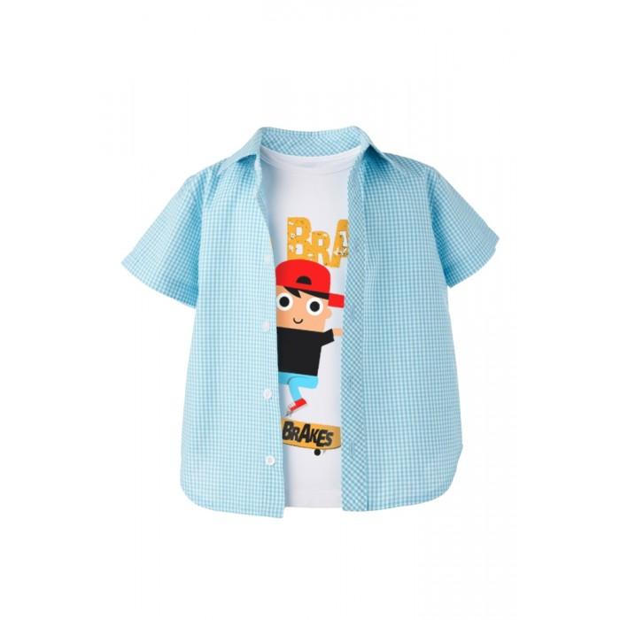 Детская одежда , Футболки и топы Goldy Комплект для мальчика (рубашка, футболка) 872.115.921 арт: 508666 -  Футболки и топы