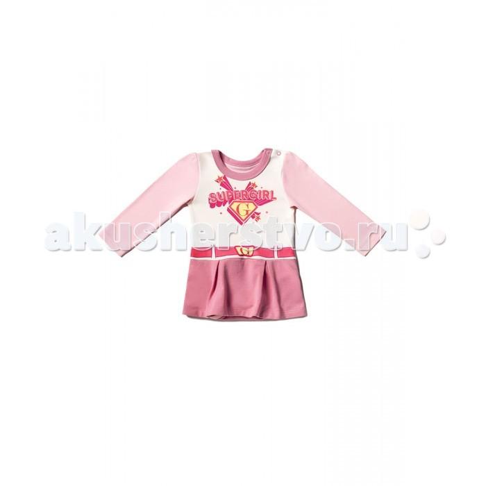 Боди и песочники Goldy Боди-платье для девочки Супергерои 624.003.202 боди и песочники goldy боди короткий рукав 623 041 011