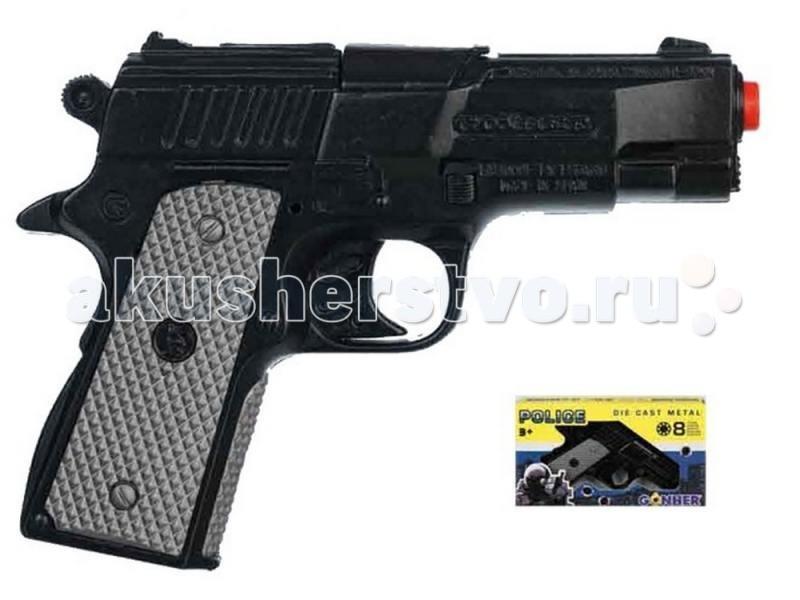 Игрушечное оружие Gonher Игрушка Пистолет Police 46/6 игрушечное оружие gonher игрушка набор ковбой револьвер кобура 150 0